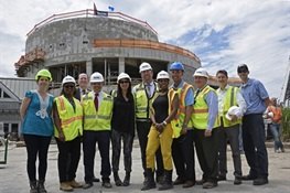A Construction Milestone is Celebrated at WCS's New York Aquarium