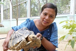 August 17- Kalyar Platt Receives the 10th Annual Behler Turtle Conservation Award