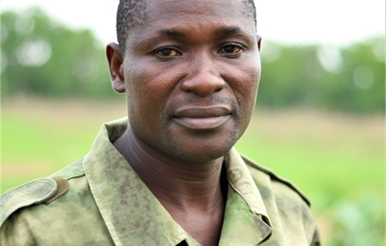Alexandre Vailia works in Bouba Ndjida National Park in Cameroon