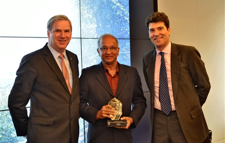 From left to right: WCS's Crisitán Samper, Ullas Karanth, and Alejandro Santo Domingo  Photo credit: Steve Fairchild
