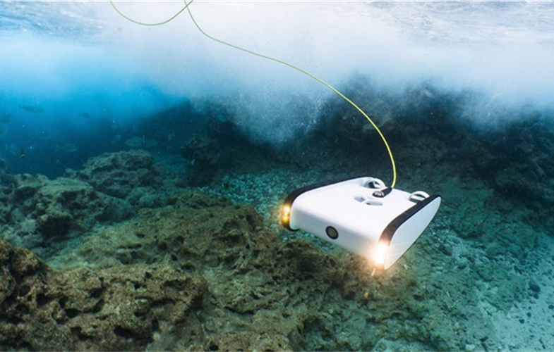 The underwater Trident drone can dive to depths of up to 100 meters.